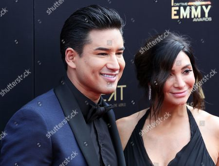 Mario Lopez (L) with spouse Courtney Laine Mazza arrive at the 46th annual Daytime Emmy Awards at the Pasadena Civic Center in Pasadena, California, USA, 05 May 2019.