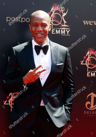 J. August Richards arrives at the 46th annual Daytime Emmy Awards at the Pasadena Civic Center in Pasadena, California, USA, 05 May 2019.