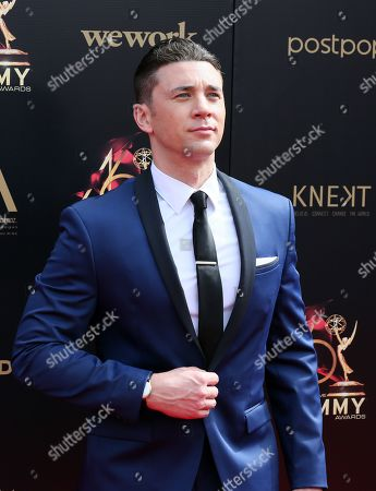 Stock Photo of Billy Flynn arrives at the 46th annual Daytime Emmy Awards at the Pasadena Civic Center in Pasadena, California, USA, 05 May 2019.