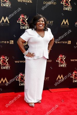 Sheryl Underwood arrives at the 46th annual Daytime Emmy Awards at the Pasadena Civic Center in Pasadena, California, USA, 05 May 2019.