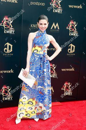 Kate Mansi arrives at the 46th annual Daytime Emmy Awards at the Pasadena Civic Center in Pasadena, California, USA, 05 May 2019.