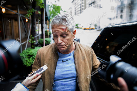 Donny Deutsch speaks with members of the media after visiting Michael Cohen, President Donald Trump's former personal attorney, in his Park Avenue apartment, in New York