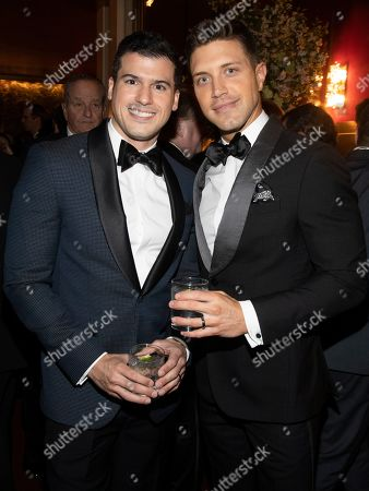 Stock Image of Gio Benitez, Tommy DiDario. Gio Benitez, left, and Tommy DiDario, right, attend the Lincoln Center for the Performing Arts 60th Anniversary Diamond Jubilee Gala at Hearst Plaza, in New York