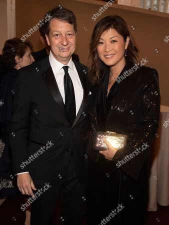 Neal Shapiro, Juju Chang. Neal Shapiro, left, and Juju Chang, right, attend the Lincoln Center for the Performing Arts 60th Anniversary Diamond Jubilee Gala at Hearst Plaza, in New York