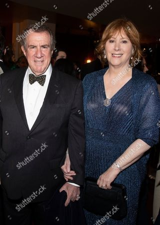 Stock Image of Andrew Tisch, Ann Tisch. Andrew Tisch, left, and Ann Tisch, right, attend the Lincoln Center for the Performing Arts 60th Anniversary Diamond Jubilee Gala at Hearst Plaza, in New York