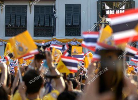Thai Princess Sirivannavari Nariratana waves to well-wishers as members of the royal family appear to the public on a balcony of the Suddhaisavarya Prasad Hall in the Grand Palace as part of Thai King Maha Vajiralongkorn Bodindradebayavarangkun's the royal coronation ceremony in Bangkok, Thailand, 06 May 2019. The three-day ancient elaborate traditional coronation ceremonies of Thai King Maha Vajiralongkorn is a formal ceremony to complete the monarch's accession to the throne.