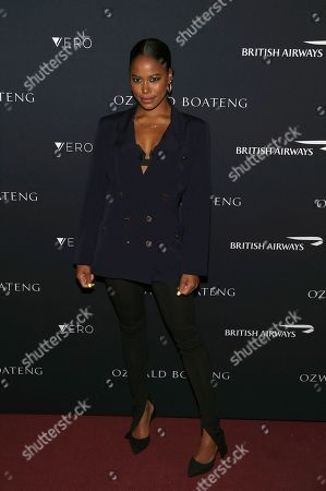 Taylour Paige attends the Ozwald Boateng fashion show at the Apollo Theater on May, 5, 2019, in New York