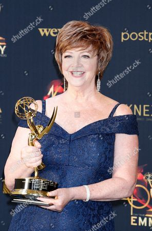 Patricia Bethune poses with her Daytime Emmy Award in the pressroom after winning for 'Outstanding Guest Performer in a Drama Series' during the 46th annual Daytime Emmy Awards at the Pasadena Civic Center in Pasadena, California, USA, 05 May 2019.