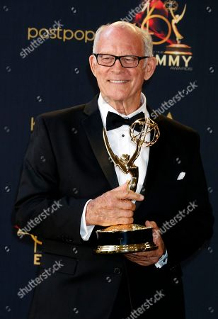 Max Gail poses with his Daytime Emmy Award in the pressroom after winning for 'Outstanding Supporting Actor in a Drama Series' during the 46th annual Daytime Emmy Awards at the Pasadena Civic Center in Pasadena, California, USA, 05 May 2019.