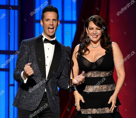 Stock Photo of David Osmond and Joely Fisher