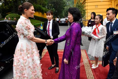 Crown Princess Victoria meets with Vice President of Vietnam Mrs. Dang Thi Ngoc Thinh during visit to the Presidential Palace in Hanoi
