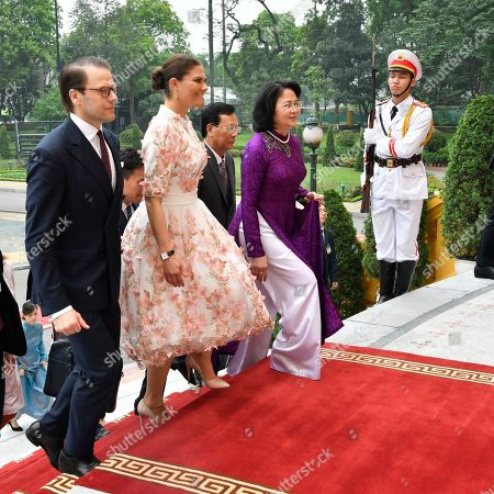 Crown Princess Victoria and Prince Daniel meets with the Vice President of Vietnam Mrs. Dang Thi Ngoc Thinh and her husband during visit to the Presidential Palace in Hanoi