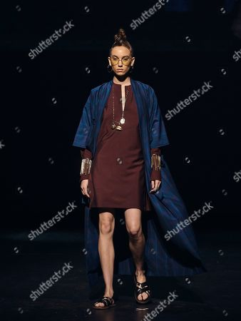 The Ozwald Boateng collection is modeled during a fashion show at Apollo Theater in New York