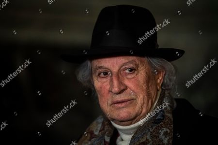 The Italian Cinematographer Vittorio Storaro author of the new lightning of Immaculate column during the inauguration