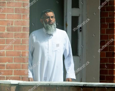 Anjem Choudary leaves his home in East London.