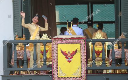 Princess Sirivannavari Nariratana waves to an audience after the speech by King Maha Vajiralongkorn at the Grand Palace during the coronation ceremony, in Bangkok, Thailand. Vajiralongkorn was officially crowned amid the splendor of the country's Grand Palace, taking the central role in an elaborate centuries-old royal ceremony that was last held almost seven decades ago
