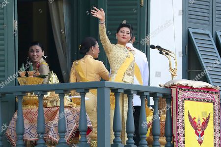 King Maha Vajiralongkorn, Queen Suthida. Princess Sirivannavari Nariratana waves to an audience after the speech by King Maha Vajiralongkorn at the Grand Palace during the coronation ceremony, in Bangkok, Thailand. Vajiralongkorn was officially crowned amid the splendor of the country's Grand Palace, taking the central role in an elaborate centuries-old royal ceremony that was last held almost seven decades ago