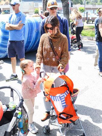 Stock Photo of Rachel Bilson, Hayden Christensen and daughter Briar Rose Christensen