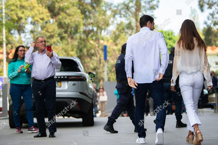 FC Porto's Spanish goalkeeper Iker Casillas (2-R) and his wife Sara Carbonero (R) leave the CUF Hospital in Porto, Portugal, 06 May 2019. Casillas was hospitalized since 01 May 2019 after suffering a heart attack during his team's training session.