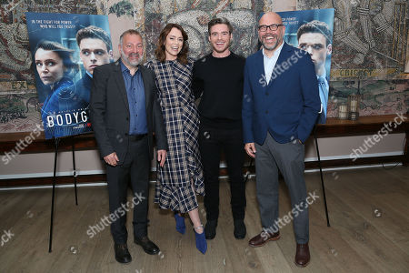 Stock Picture of Jed Mercurio (Writer), Keeley Hawes, Richard Madden, Simon Heath (Executive Producer)