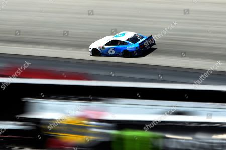 Driver Ryan Newman (6) competes during the NASCAR Cup Series auto race, at Dover International Speedway in Dover, Del