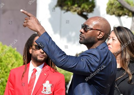 """Actor Morris Chestnut, a cast member in director John Singleton's 1991 debut film """"Boyz n the Hood,"""" arrives at a memorial service for Singleton at Angelus Funeral Home, in Los Angeles. Singleton died on April 29 following a stroke"""