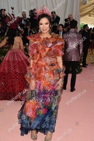"""Wendi Deng Murdoch attends The Metropolitan Museum of Art's Costume Institute benefit gala celebrating the opening of the """"Camp: Notes on Fashion"""" exhibition, in New York"""