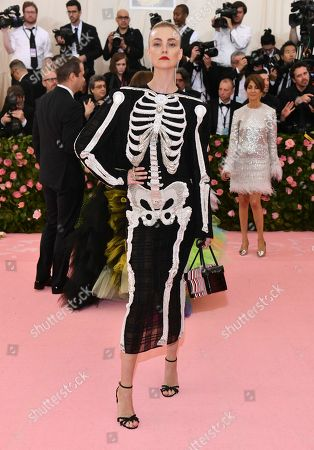 """Caroline Trentini attends The Metropolitan Museum of Art's Costume Institute benefit gala celebrating the opening of the """"Camp: Notes on Fashion"""" exhibition, in New York"""