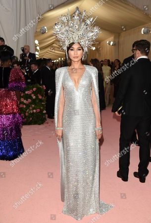 "Gemma Chan attends The Metropolitan Museum of Art's Costume Institute benefit gala celebrating the opening of the ""Camp: Notes on Fashion"" exhibition, in New York"
