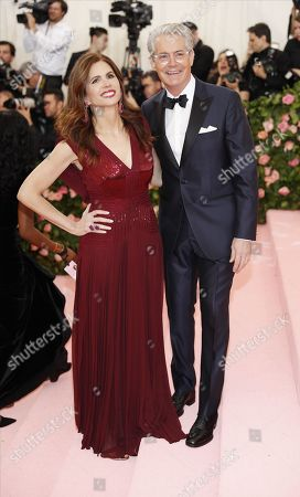 Stock Image of Desiree Gruber (L) and Kyle MacLachlan arrives on the red carpet for the 2019 Met Gala, the annual benefit for the Metropolitan Museum of Art's Costume Institute, in New York, New York, USA, 06 May 2019. The event coincides with the Met Costume Institute's new spring 2019 exhibition, 'Camp: Notes on Fashion', which runs from 09 May until 08 September 2019.