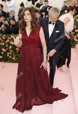 Stock Photo of Desiree Gruber (L) and Kyle MacLachlan arrives on the red carpet for the 2019 Met Gala, the annual benefit for the Metropolitan Museum of Art's Costume Institute, in New York, New York, USA, 06 May 2019. The event coincides with the Met Costume Institute's new spring 2019 exhibition, 'Camp: Notes on Fashion', which runs from 09 May until 08 September 2019.