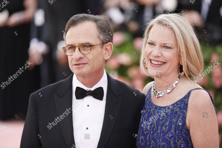 Daniel Weiss (L) and Sandra Weiss arrives on the red carpet for the 2019 Met Gala, the annual benefit for the Metropolitan Museum of Art's Costume Institute, in New York, New York, USA, 06 May 2019. The event coincides with the Met Costume Institute's new spring 2019 exhibition, 'Camp: Notes on Fashion', which runs from 09 May until 08 September 2019.