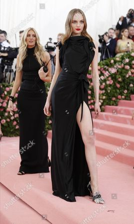 Fran Summers arrives on the red carpet for the 2019 Met Gala, the annual benefit for the Metropolitan Museum of Art's Costume Institute, in New York, New York, USA, 06 May 2019. The event coincides with the Met Costume Institute's new spring 2019 exhibition, 'Camp: Notes on Fashion', which runs from 09 May until 08 September 2019.