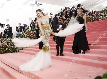 Abbey Lee Kershaw arrives on the red carpet for the 2019 Met Gala, the annual benefit for the Metropolitan Museum of Art's Costume Institute, in New York, New York, USA, 06 May 2019. The event coincides with the Met Costume Institute's new spring 2019 exhibition, 'Camp: Notes on Fashion', which runs from 09 May until 08 September 2019.