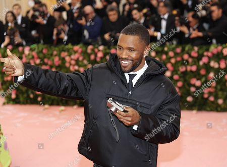 Frank Ocean arrives on the red carpet for the 2019 Met Gala, the annual benefit for the Metropolitan Museum of Art's Costume Institute, in New York, New York, USA, 06 May 2019. The event coincides with the Met Costume Institute's new spring 2019 exhibition, 'Camp: Notes on Fashion', which runs from 09 May until 08 September 2019.
