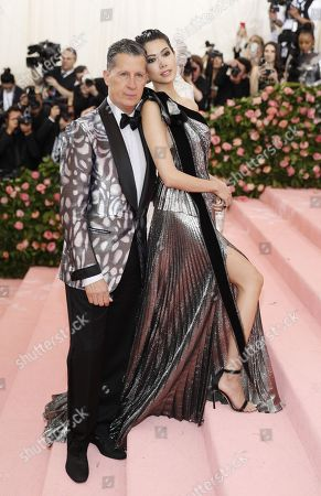 Stefano Tonchi and Hikari Mori (R) arrives on the red carpet for the 2019 Met Gala, the annual benefit for the Metropolitan Museum of Art's Costume Institute, in New York, New York, USA, 06 May 2019. The event coincides with the Met Costume Institute's new spring 2019 exhibition, 'Camp: Notes on Fashion', which runs from 09 May until 08 September 2019.