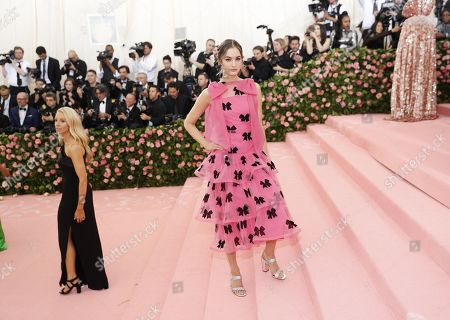 Laura Love arrives on the red carpet for the 2019 Met Gala, the annual benefit for the Metropolitan Museum of Art's Costume Institute, in New York, New York, USA, 06 May 2019. The event coincides with the Met Costume Institute's new spring 2019 exhibition, 'Camp: Notes on Fashion', which runs from 09 May until 08 September 2019.