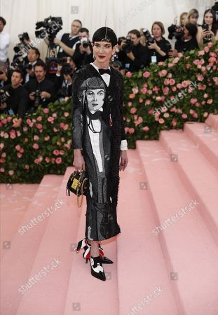 Amy Fine Collins on the red carpet for the 2019 Met Gala, the annual benefit for the Metropolitan Museum of Art's Costume Institute, in New York, New York, USA, 06 May 2019. The event coincides with the Met Costume Institute's new spring 2019 exhibition, 'Camp: Notes on Fashion', which runs from 09 May until 08 September 2019.