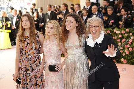 Susan Leibovitz , Samuelle Rhinebeck, Sarah Cameron Leibovitz and Annie Leibovitz arrive on the red carpet for the 2019 Met Gala, the annual benefit for the Metropolitan Museum of Art's Costume Institute, in New York, New York, USA, 06 May 2019. The event coincides with the Met Costume Institute's new spring 2019 exhibition, 'Camp: Notes on Fashion', which runs from 09 May until 08 September 2019.