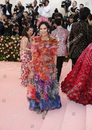 Wendi Murdoch arrives on the red carpet for the 2019 Met Gala, the annual benefit for the Metropolitan Museum of Art's Costume Institute, in New York, New York, USA, 06 May 2019. The event coincides with the Met Costume Institute's new spring 2019 exhibition, 'Camp: Notes on Fashion', which runs from 09 May until 08 September 2019.