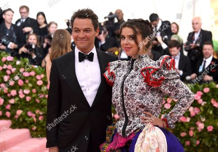 """Stock Image of Dominic West, Martha West. Dominic West, left, and Martha West attend The Metropolitan Museum of Art's Costume Institute benefit gala celebrating the opening of the """"Camp: Notes on Fashion"""" exhibition, in New York"""
