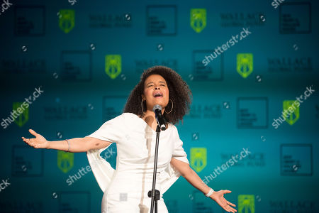 Stock Image of Grammy-nominated singer, songwriter and actress Antonique Smith performs during the 2019 Henry A. Wallace Award on in Washington