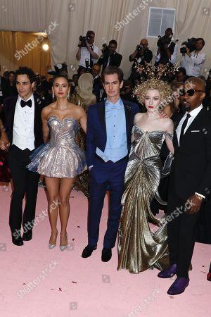 Stock Image of Zac Posen, Nina Dobrev, Andrew Garfield, Julia Garner and Jamie Foxx