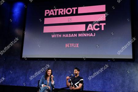 Stock Photo of Padma Lakshmi and Hasan Minaj