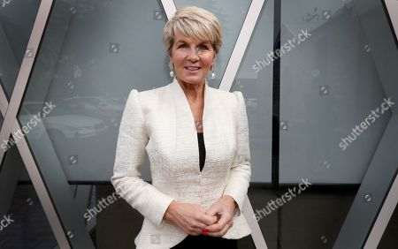 Australian former foreign affairs minister Julie Bishop arrives at Walkerville Town Hall for a High Tea Fundraiser in Walkerville in Adelaide, South Australia, Australia, 07 May 2019.