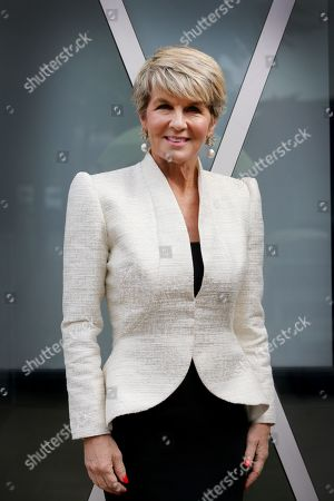 Stock Picture of Australian former foreign affairs minister Julie Bishop arrives at Walkerville Town Hall for a High Tea Fundraiser in Walkerville in Adelaide, South Australia, Australia, 07 May 2019.