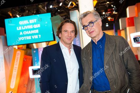 Stock Image of Francois Busnel and Wim Wenders