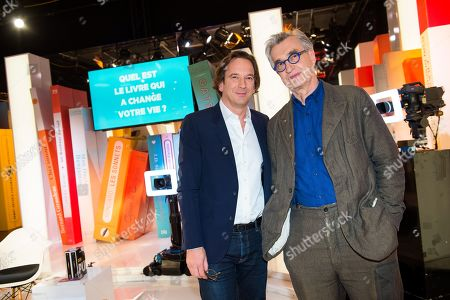 Stock Picture of Francois Busnel and Wim Wenders