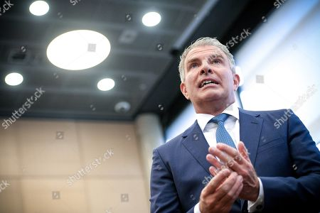 Chief Executive Officer (CEO) Carsten Spohr of German airline Lufthansa attends the annual stockholders' meeting of Lufthansa Group at the World Conference Center (WCC) in Bonn, Germany, 07 May 2019.