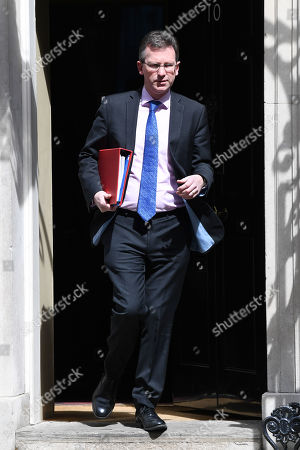 Jeremy Wright, Secretary of State for Digital, Culture, Media and Sport, leaves a Cabinet Meeting at No.10 Downing Street
